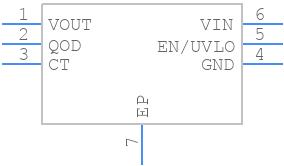 TPS22810DRVR - Texas Instruments - PCB symbol