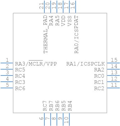 PIC16F15345-I/GZ - Microchip - PCB Footprint & Symbol Download