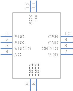 BMA253 - Bosch Sensortec - PCB symbol