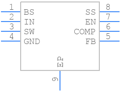 MP2307DN-LF-Z - Monolithic Power Systems (MPS) - PCB symbol