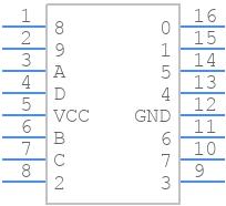 SN74141 - Texas Instruments - PCB symbol