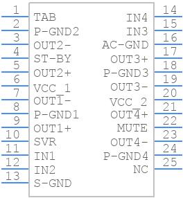 TDA7388 - STMicroelectronics - PCB symbol