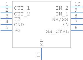 TPS7A9001DSKT - Texas Instruments - PCB symbol
