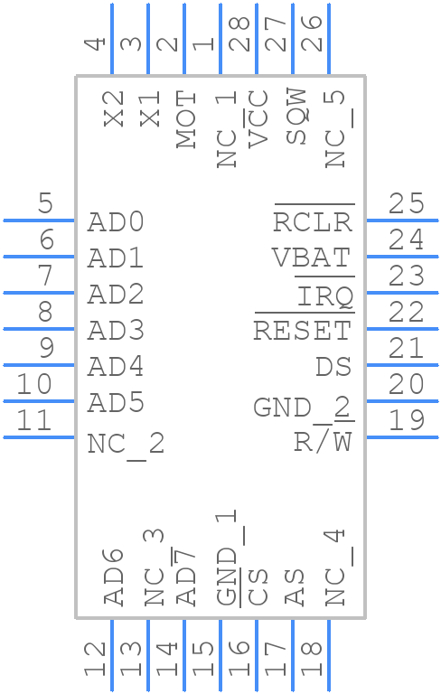 DS12885Q+ - Maxim Integrated - PCB symbol