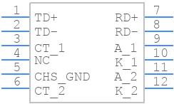 J1011F21PNL - Pulse - PCB symbol