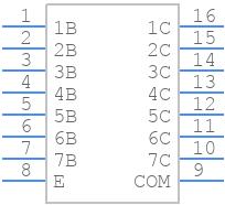 ULN2003ADR - Texas Instruments - PCB symbol