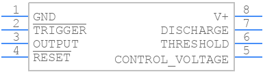 ICM7555IPA+ - Maxim Integrated - PCB symbol