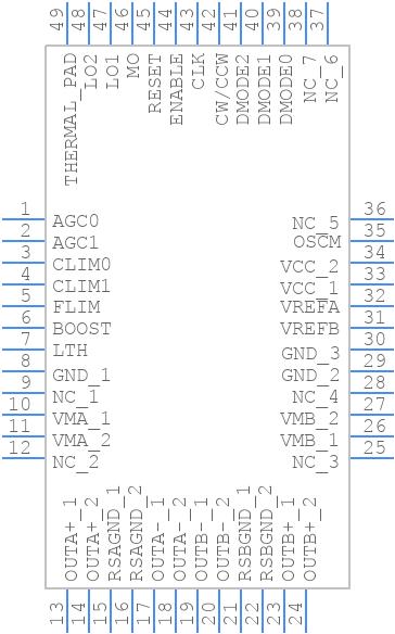 TB67S289FTG - Toshiba - PCB symbol