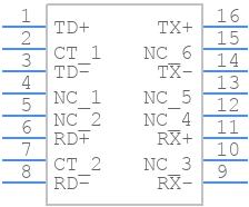H1102NL - Pulse - PCB symbol