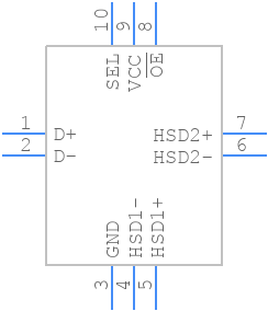 FSUSB42UMX - ON Semiconductor - PCB symbol