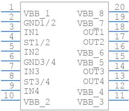 ITS724GFUMA1 - Infineon - PCB symbol